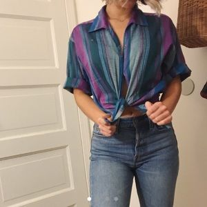 Vintage striped shirt sleeve button down